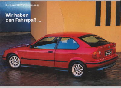 bmw 316i compact prospekt i 1994 histoquariat. Black Bedroom Furniture Sets. Home Design Ideas